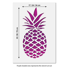 CraftStar Large Pineapple Stencil Size Guide