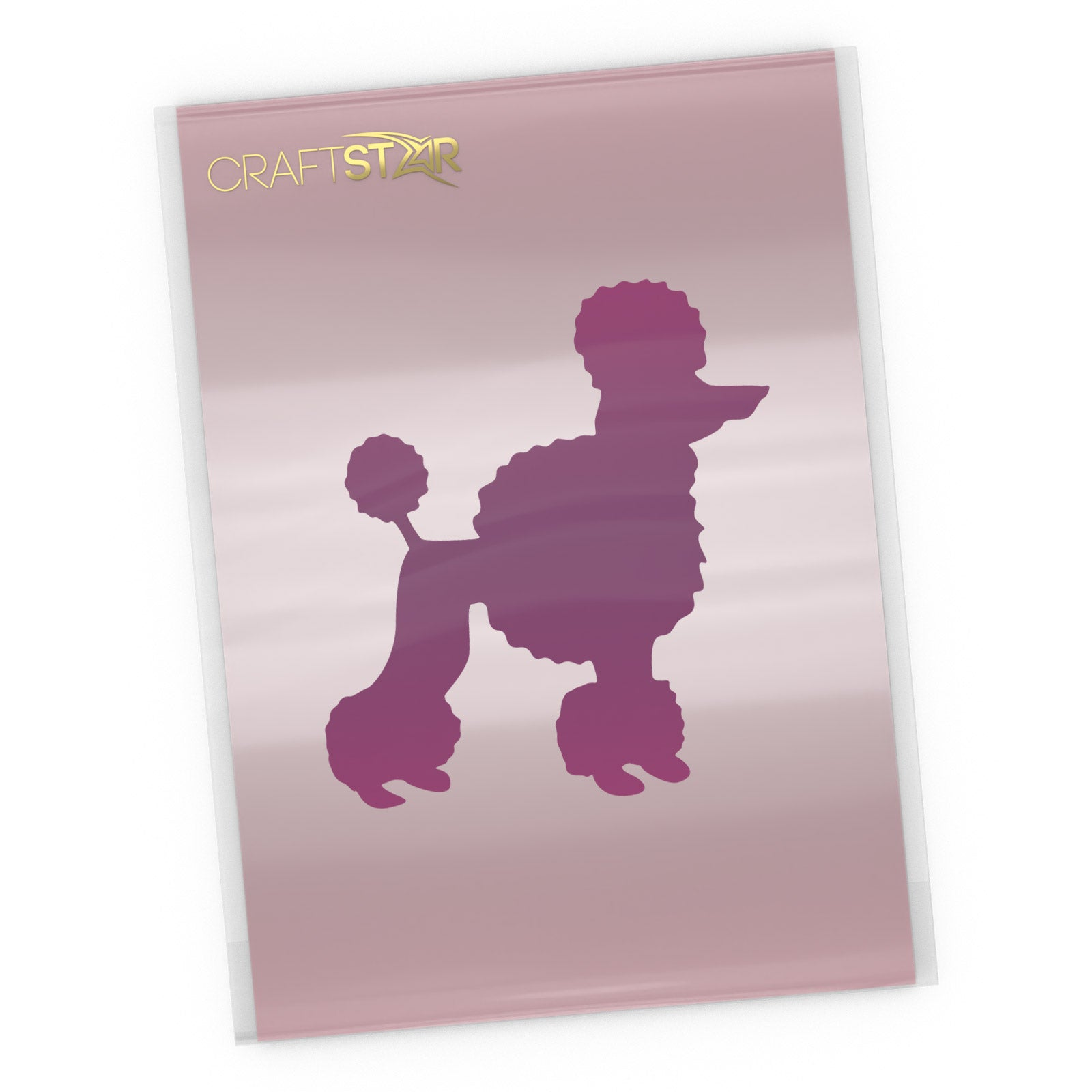 Poodle Dog Stencil - Craft Template