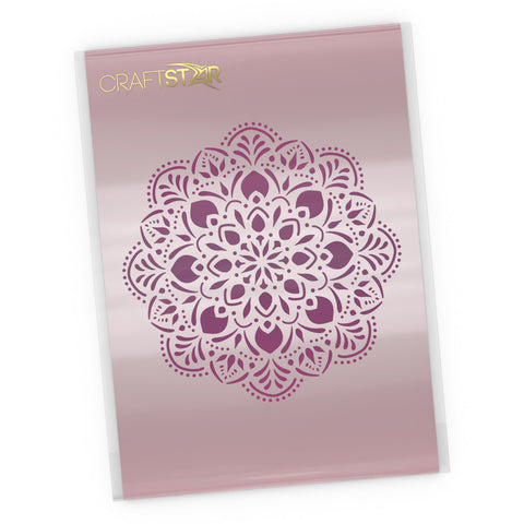 Pushpa Mandala Stencil - Mandala Craft Template
