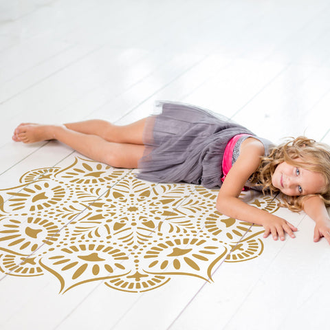CraftStar Reflections Mandala Floor Stencil