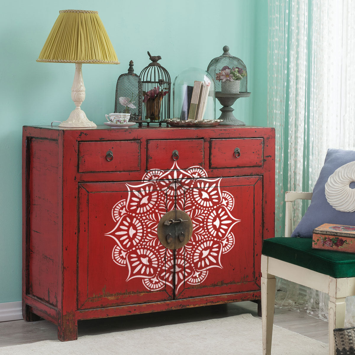 CraftStar Reflections Mandala Stencil - Eastern Inspired Furniture
