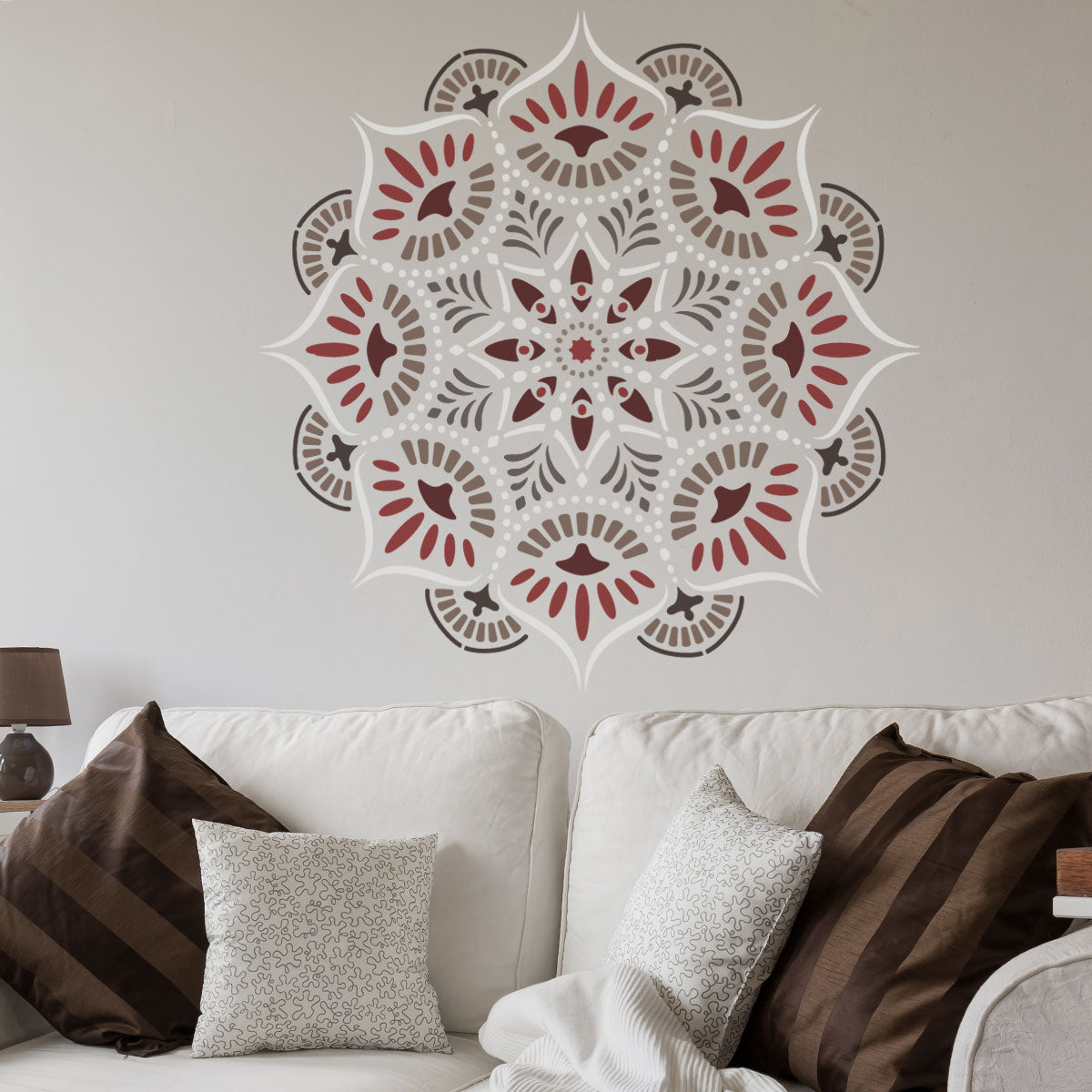 CraftStar Reflections Mandala Wall Stencil