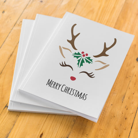 CraftStar Reindeer Face Stencil on card