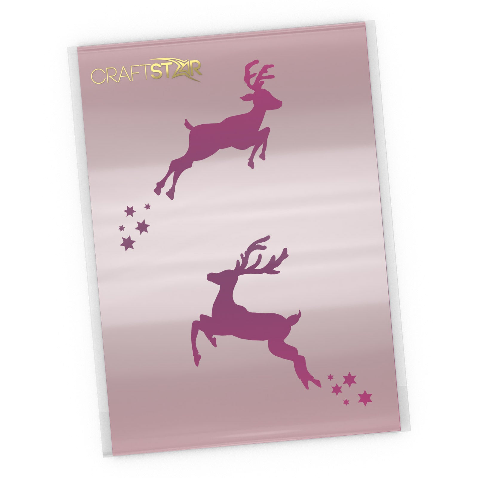Small Reindeer Stencils - A5 Size Craft Template