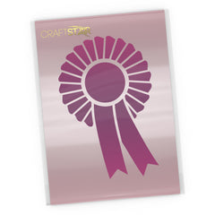 Rosette Stencil - Craft Prize Ribbon Template