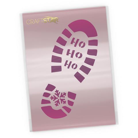 Santa's Footprint Stencil - Christmas Craft Template