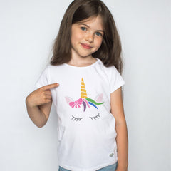 CraftStar Sleeping Unicorn Stencil on Child's T-Shirt