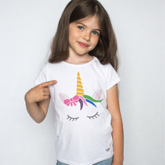 CraftStar Sleeping Unicorn Wall Stencil on Tshirt
