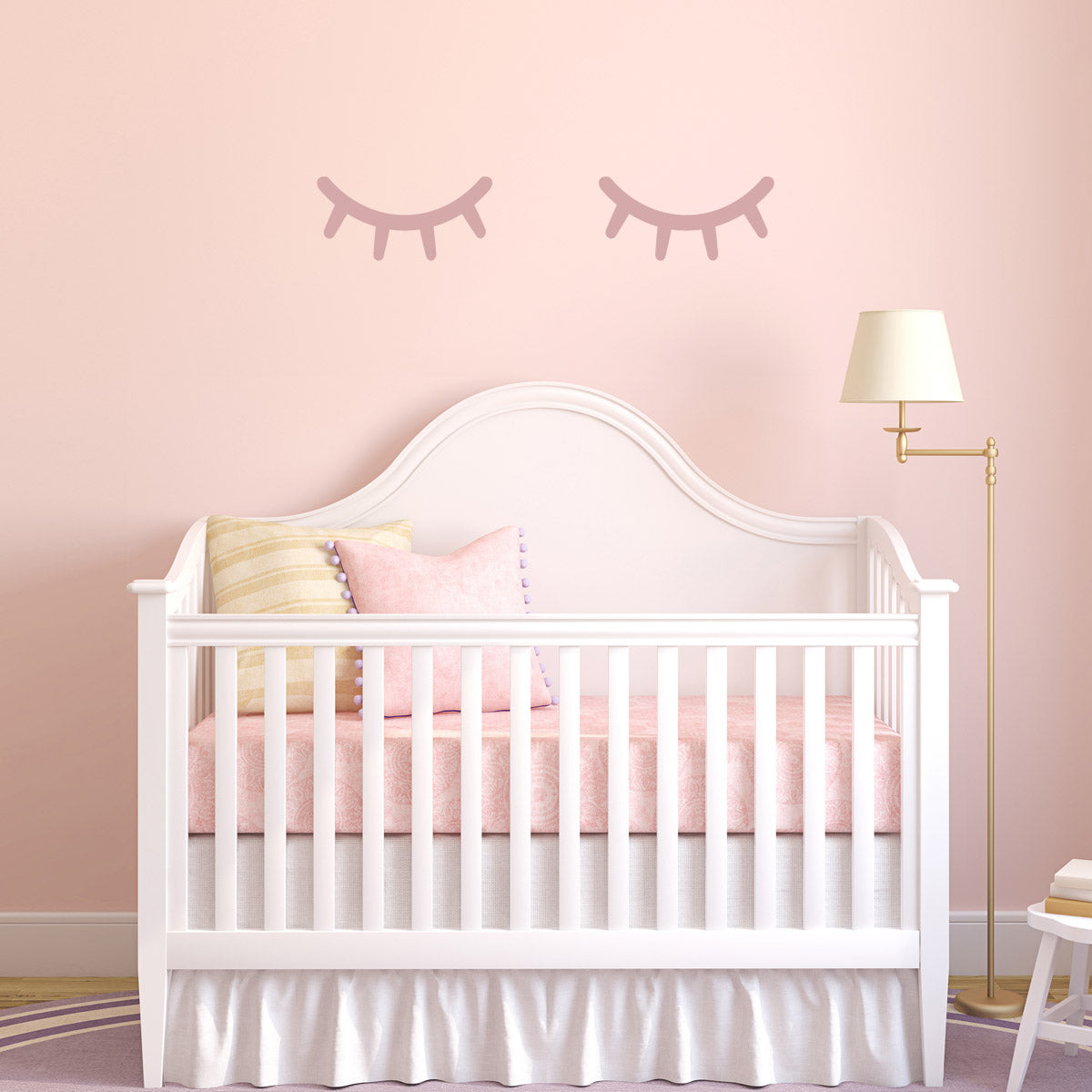 CraftsStar Sleepy Eyes Wall Stencil in Nursery