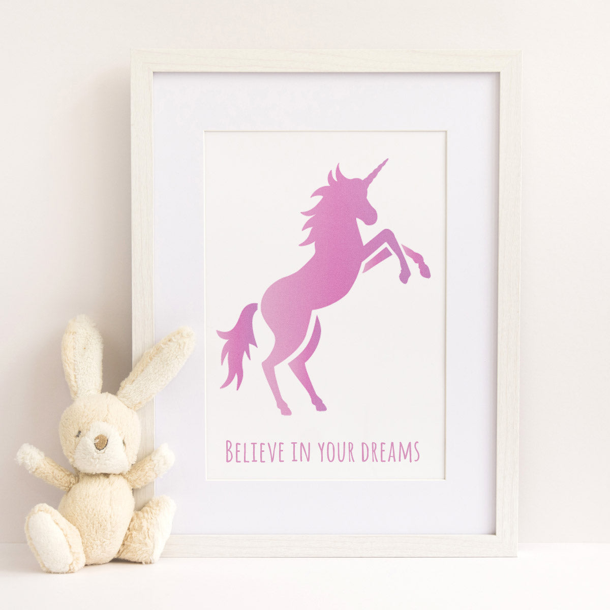 CraftStar Prancing Unicorn Stencil as Framed Print