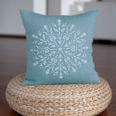 CraftStar Snowflake Mandala Stencil on fabric