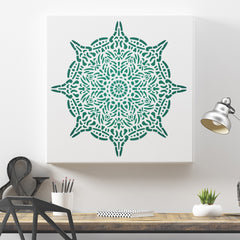 CraftStar Spirit Mandala Stencil on Canvas