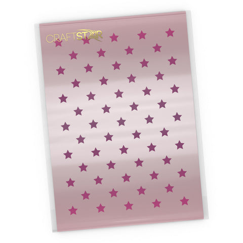 Stars Stencil - Craft Seamless Mini Star Pattern Template