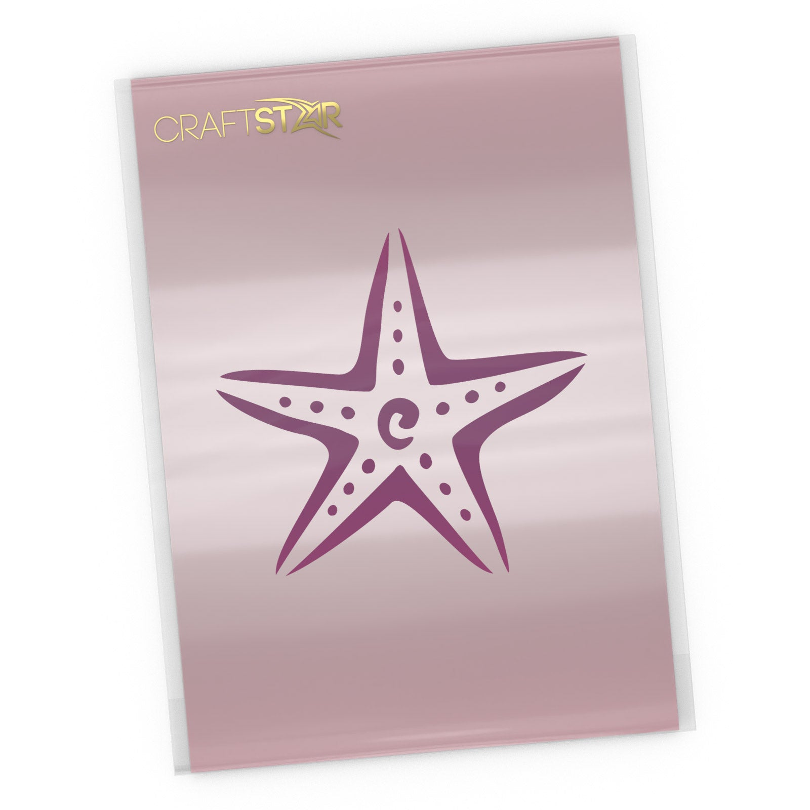 Starfish Stencil - Nautical Craft Template