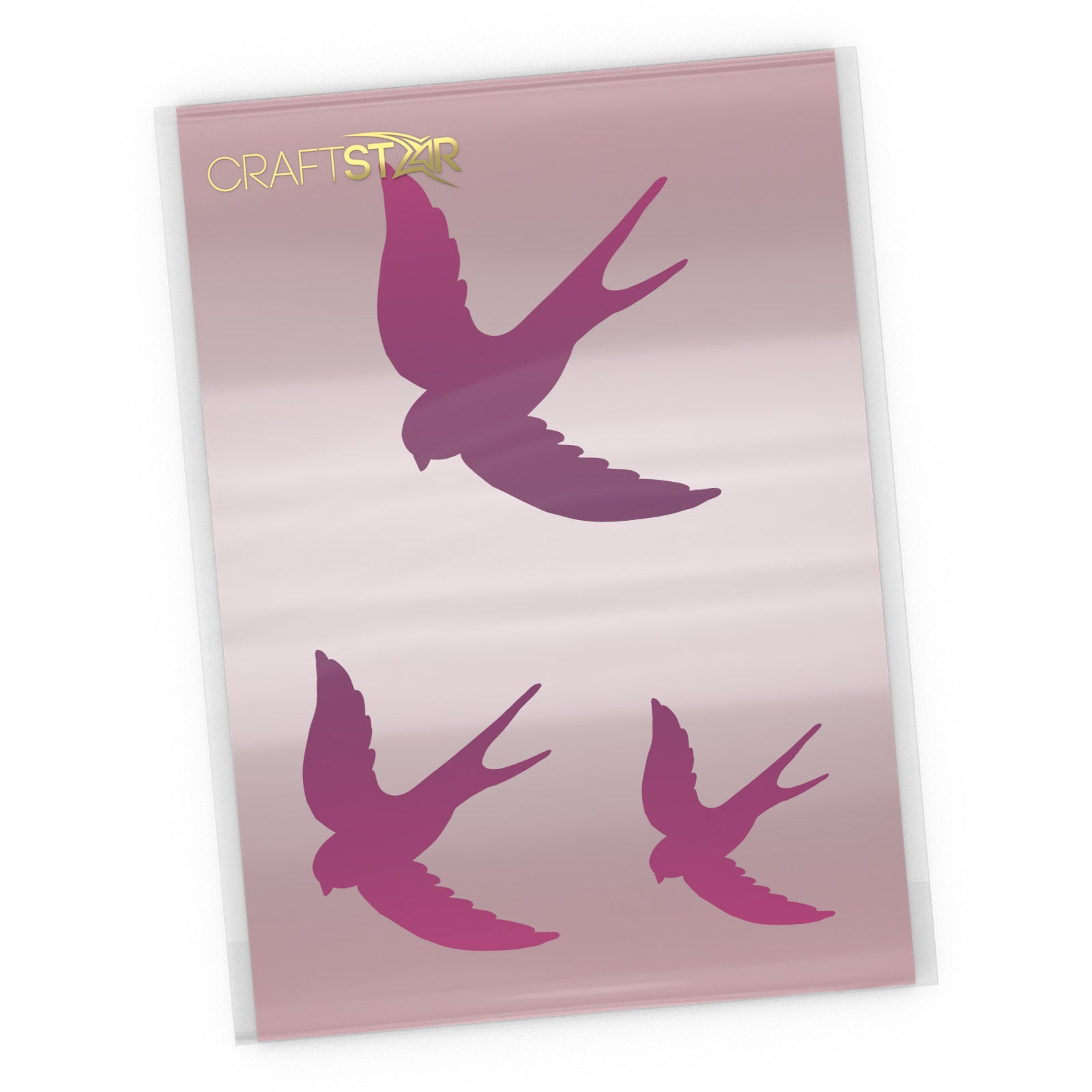 Swallows Stencil Set - Craft Template
