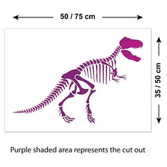 CraftStar T-Rex Dinosaur Stencil Sizes