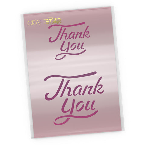 Thank You  Stencil - Calligraphy Craft Template