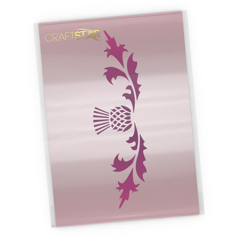 Thistle Border Stencil - Craft Template