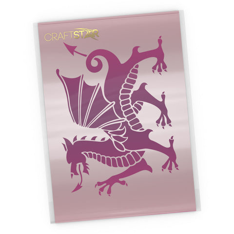 Welsh Dragon Stencil - Craft Template