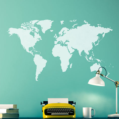 CraftStar World Map Stencil in Study