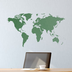 CraftStar World Map Wall Stencil
