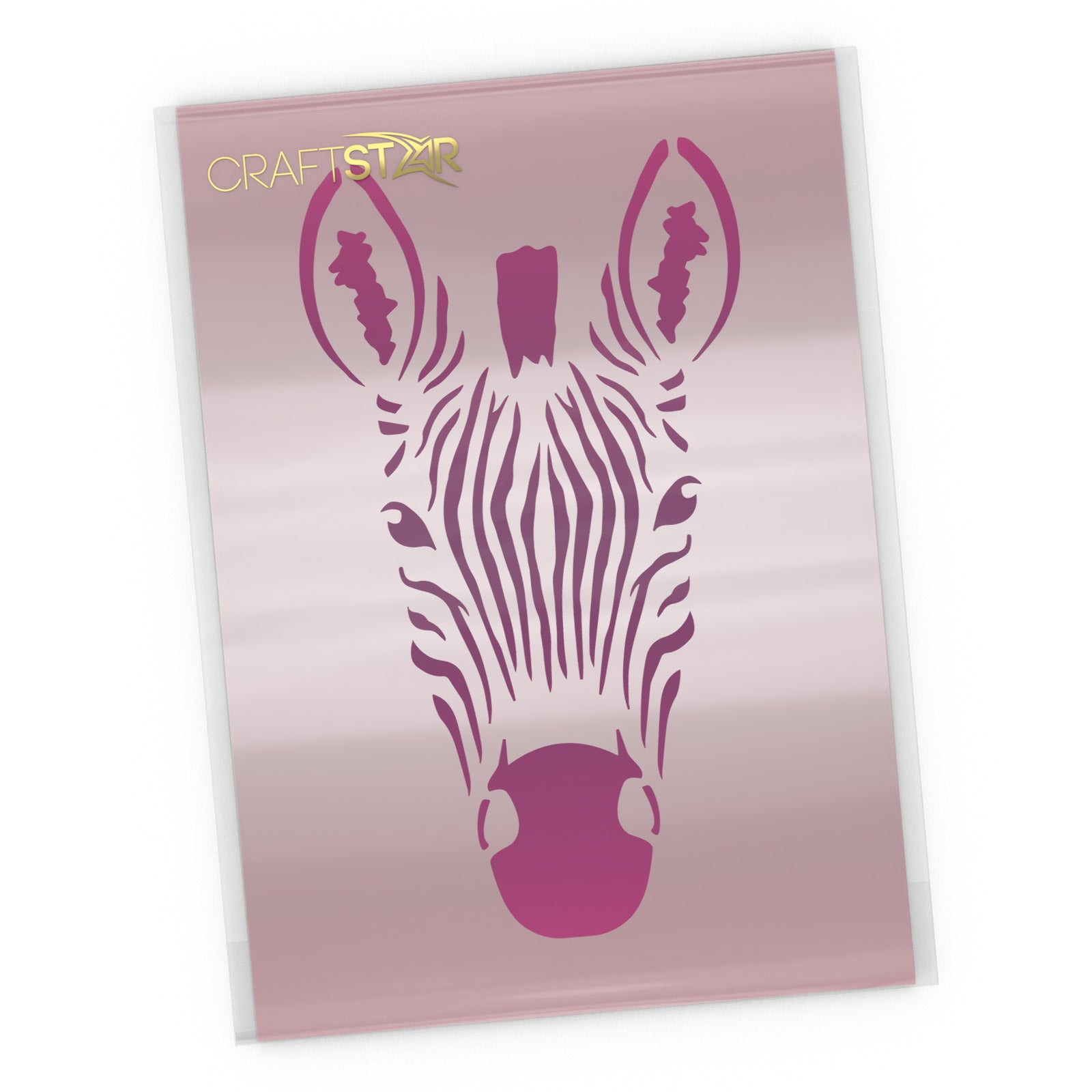 Zebra Head Stencil - Craft Template