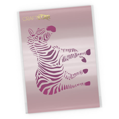 Zebra Stencil - Craft Template