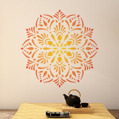 CraftStar Laghu Mandala Stencil on Wall
