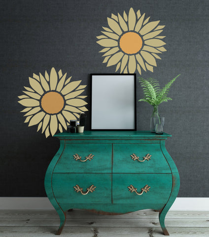 CraftStar Large Sunflower Wall Stencil