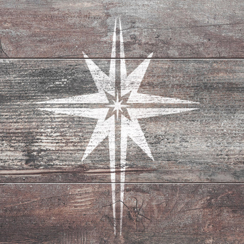 CraftStar Christmas Star Stencil on Wood