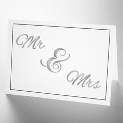 CraftStar Mr & Mrs Stencil on card