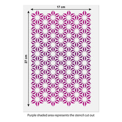 CraftStar Asanoha Pattern Stencil Size Guide