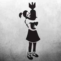 CraftStar Banksy Bomb Hugger Girl Stencil - Graffiti Wall Art