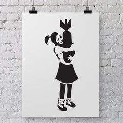 CraftStar Banksy Bomb Hugger Girl Stencil on Poster