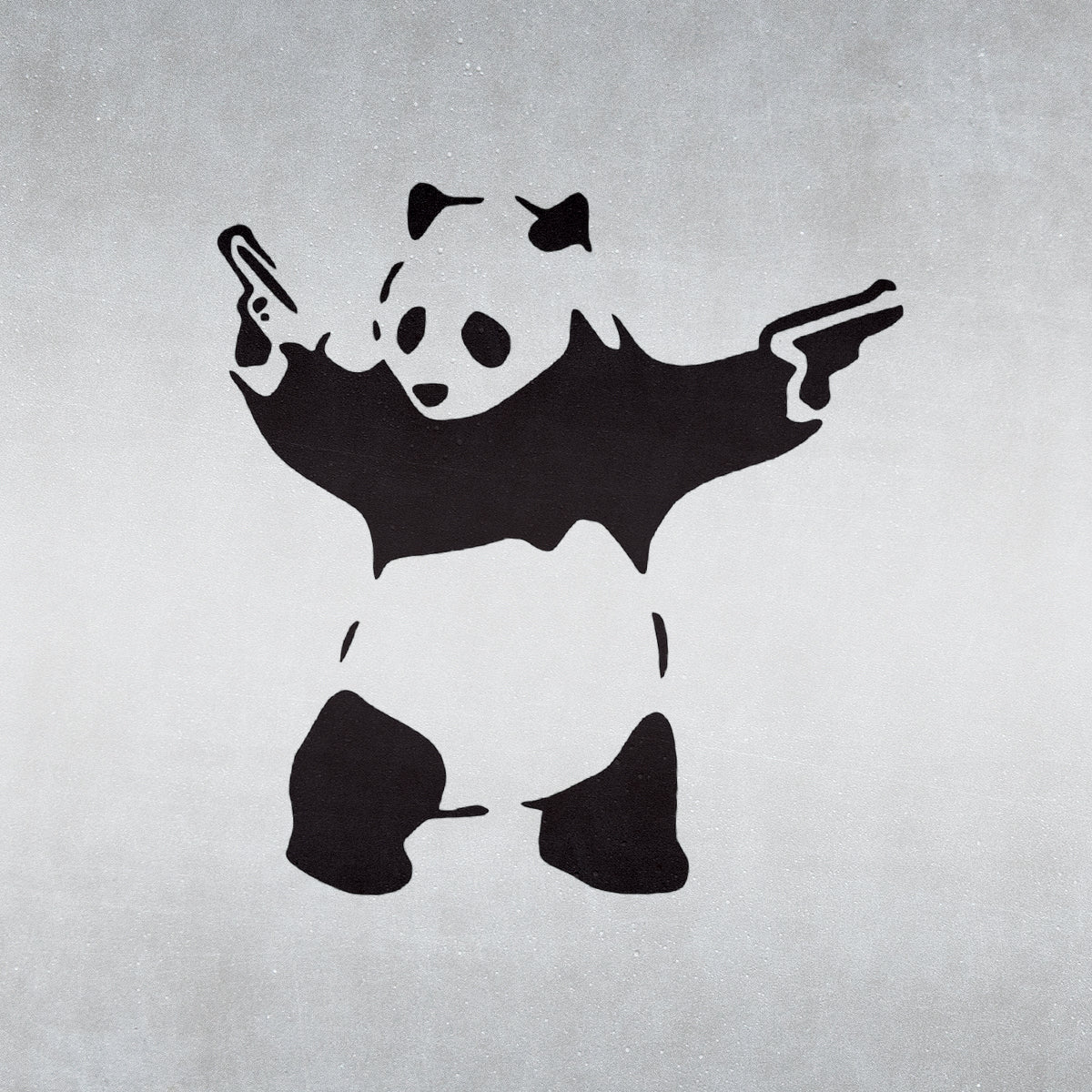 Banksy Panda With Guns - Craft Stencil - CraftStar