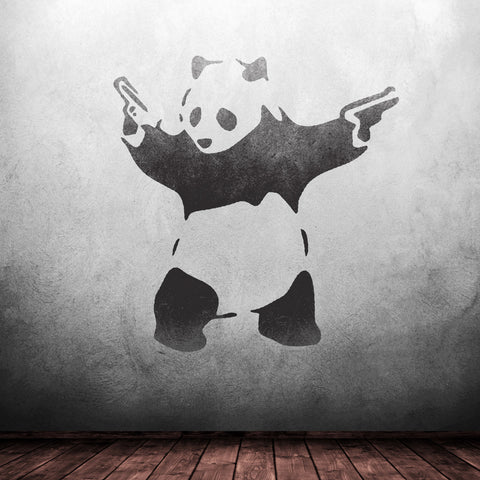 CraftStar Banksy Panda Wall Stencil - Grunge Look Graffiti Art