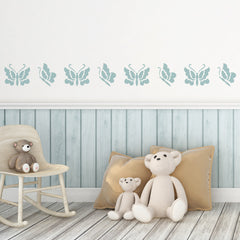 CraftStar Butterflies Stencil Set on Nursery Wall