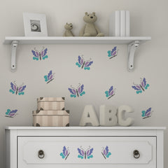 CraftStar Butterflies Stencil Set in Nursery