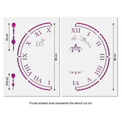 CraftStar Cafe De Paris Large Clock Stencil - Extra Large Size