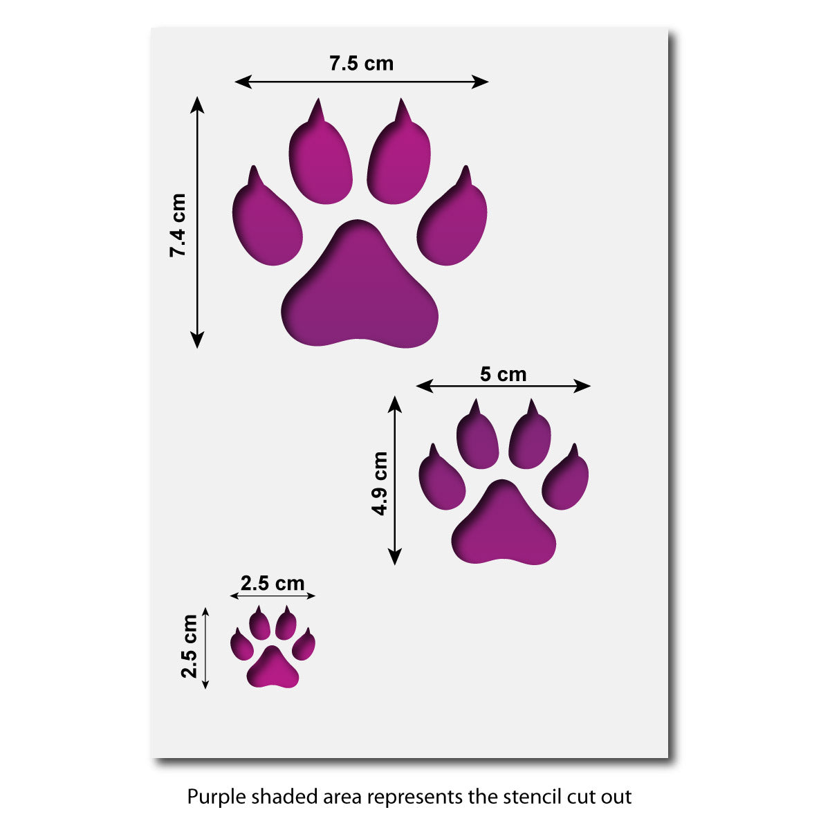 CraftStar Cat Paw Print Stencil Set
