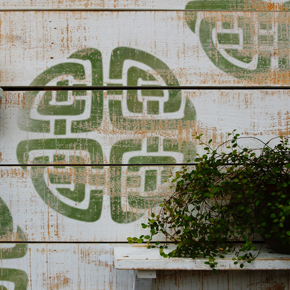 CraftStar Celtic Knot Wall Stencil on Wood