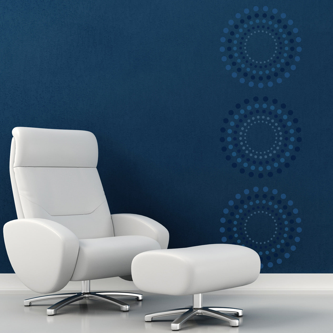 CraftStar Concentric Circles Wall Stencil