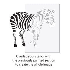 CraftStar Zebra Wall Stencil - Extra Large Stencil Alignment Guide