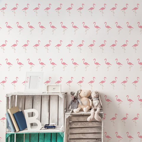 CraftStar Flamingo Wall Stencil - Allover Repeating Pattern
