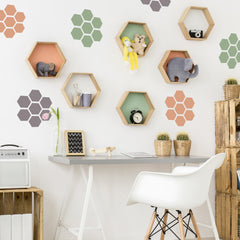 CraftStar Honeycomb Stencil - Wall Accents