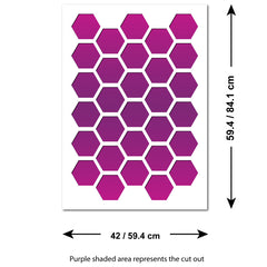 CraftStar Honeycomb Allover Wall Stencil - Sizes