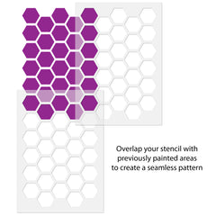 CraftStar Honeycomb Allover Wall Stencil - Alignment Guide