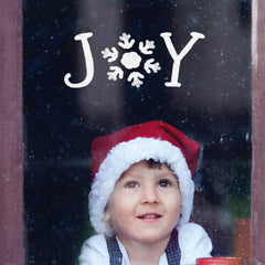 CraftStar Joy Stencil Word Template as Window Decoration