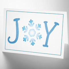 CraftStar Joy Stencil Word Template on card