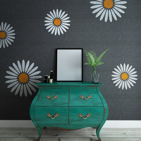 CraftStar Daisy Wall Stencil - Mixed Sizes